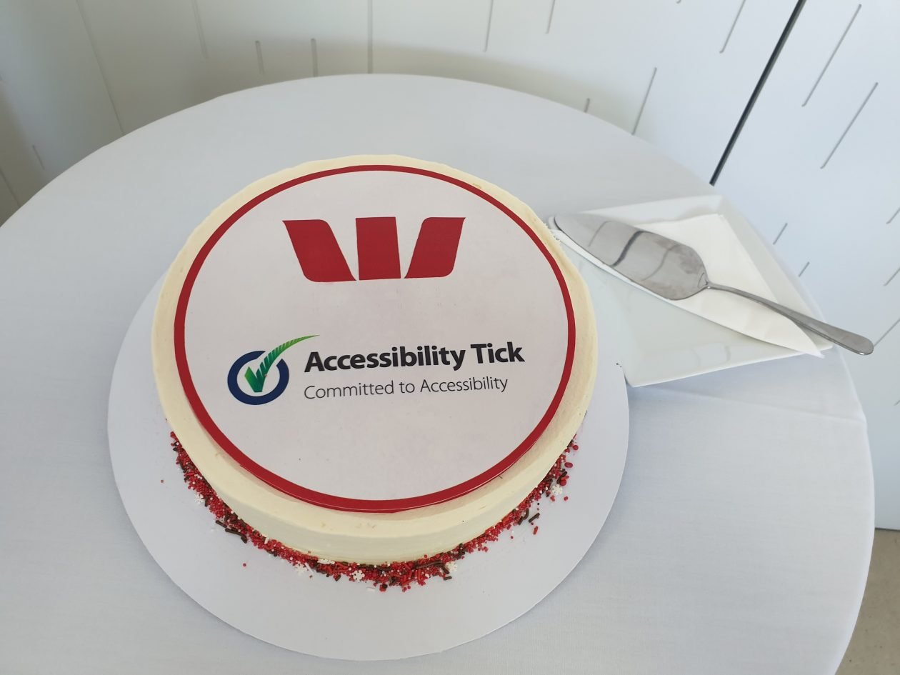 Westpac Accessibility Tick cake