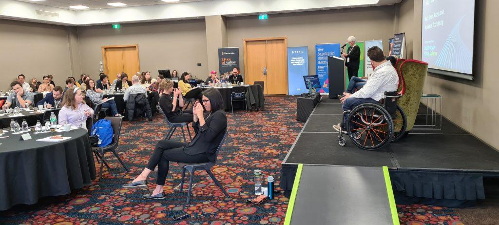 Conference room with NZSL interpretors