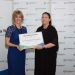 Tanya Colvin presenting the Auckland District Health Board certificate to Sarah McLeod