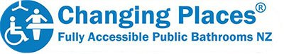 Changing Places logo with byline Fully Accessible Public Bathrooms NZ