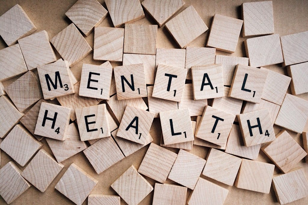 Mental Health printed on scrabble blocks